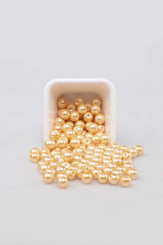 SİMİSSO - Cam İnci 8 mm 100 gr Sarı