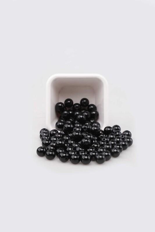 SİMİSSO - Cam İnci 8 mm 100 gr Siyah