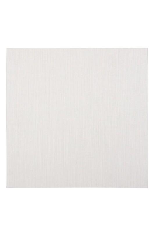 Etuval - Etuval Gardenya Punch Nakış Kumaşı 40*40 cm | Simli Krem