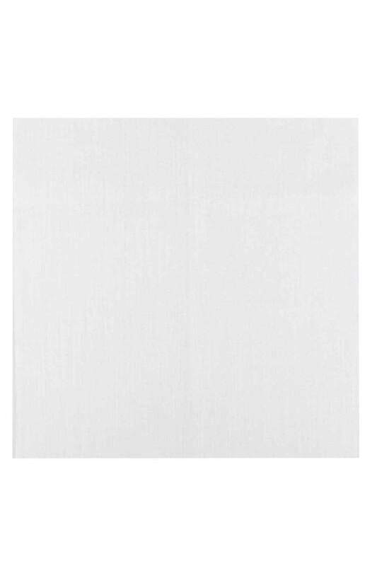 Etuval - Etuval Gardenya Punch Nakış Kumaşı 40*40 cm | Simli Beyaz