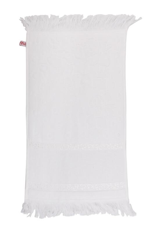 FİESTA - Fiesta Kadife İşleme Havlusu Saçaklı 50 x 90 | Beyaz