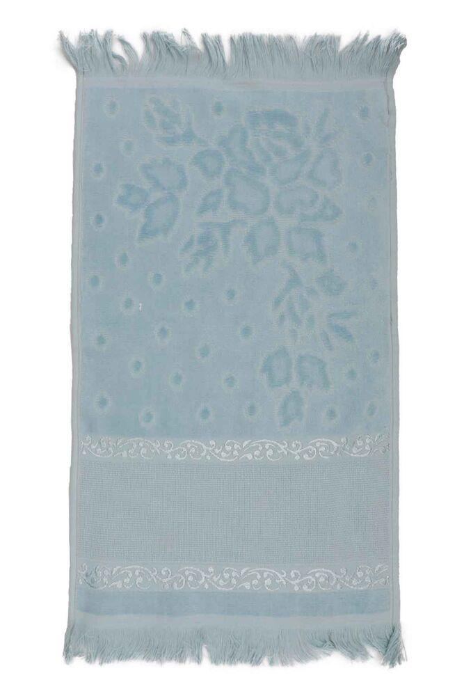Fiesta Kadife İşleme Havlusu Saçaklı 30 x 50 | Bebe Mavi