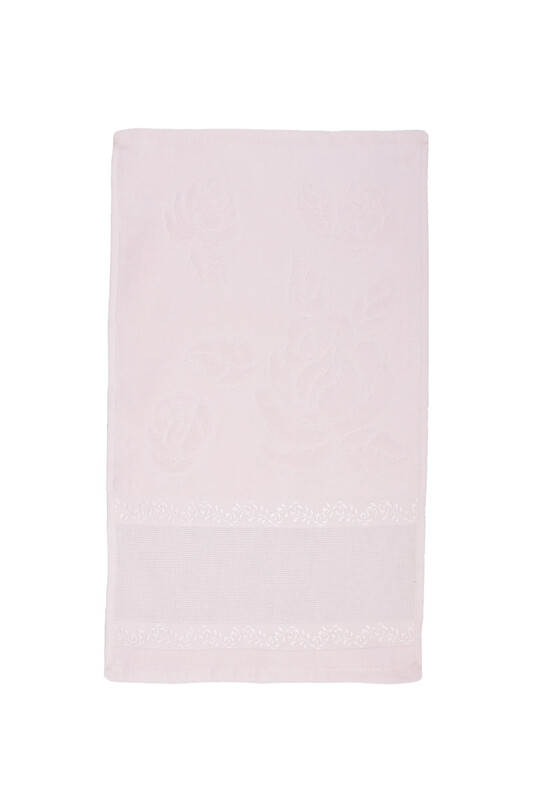 FİESTA - Fiesta Soft Kadife İşleme Havlusu 30 x 50   Bebe Pembe