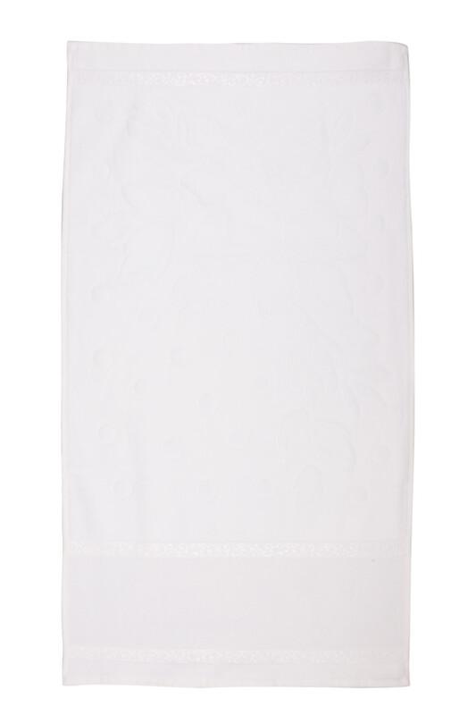 FİESTA - Fiesta Soft Kadife İşleme Havlusu 50 x 90 | Beyaz