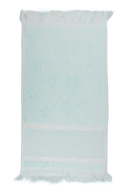 SİMİSSO - Saçaklı İşlemelik Havlu 30*50 cm | Yeşil