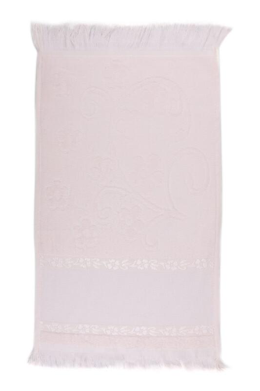 SİMİSSO - Saçaklı İşlemelik Havlu 30*50 cm | Somon