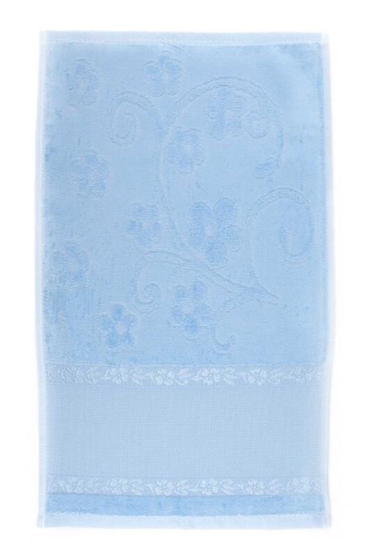 SİMİSSO - Saçaksız İşlemelik Havlu 30*50 cm   Bebe Mavi