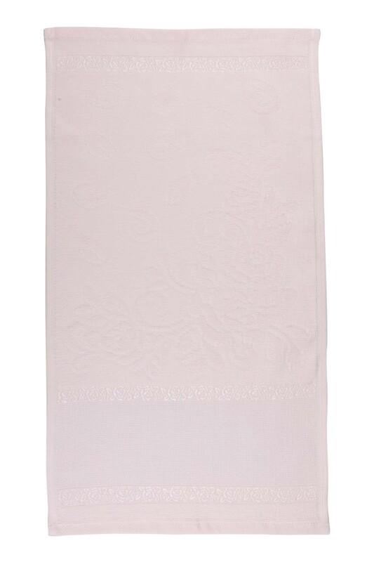 SİMİSSO - Saçaksız İşlemelik Havlu 30*50 cm | Somon