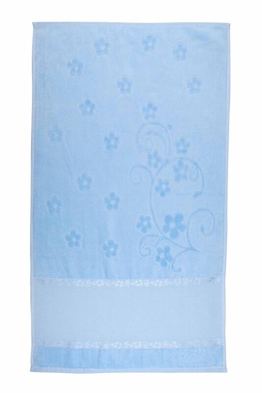 SİMİSSO - Saçaksız İşlemelik Havlu 50*90 cm | Bebe Mavi