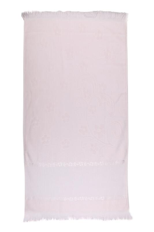 SİMİSSO - Saçaklı İşlemelik Havlu 50*90 cm | Somon