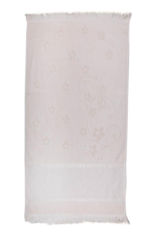 SİMİSSO - Saçaklı İşlemelik Havlu 50*90 cm | Bej