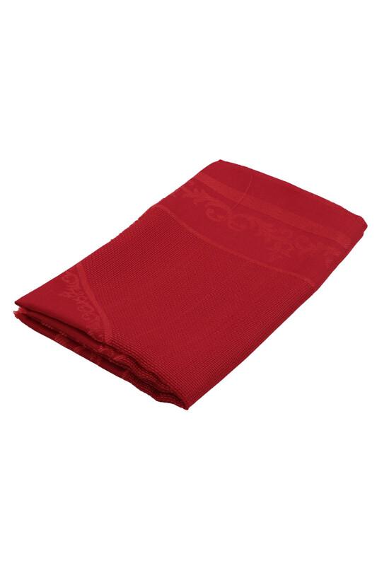 SİMİSSO - Linen Etamin İşlemelik Seccade Kumaşı | Kırmızı