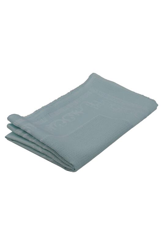 SİMİSSO - Linen Etamin İşlemelik Seccade Kumaşı   Mavi