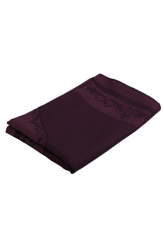 SİMİSSO - Linen Etamin İşlemelik Seccade Kumaşı | Mor