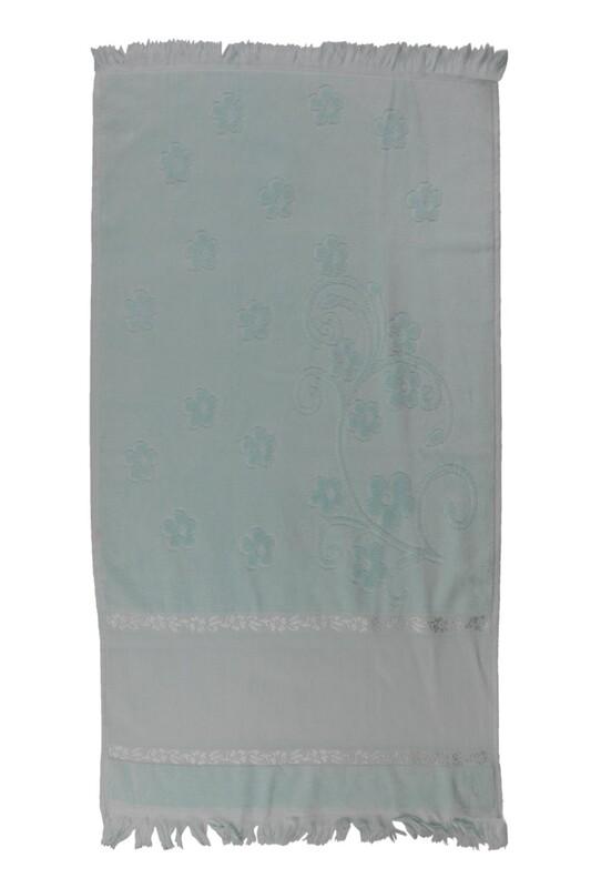 SİMİSSO - Saçaklı İşlemelik Havlu 50*90 cm | Yeşil