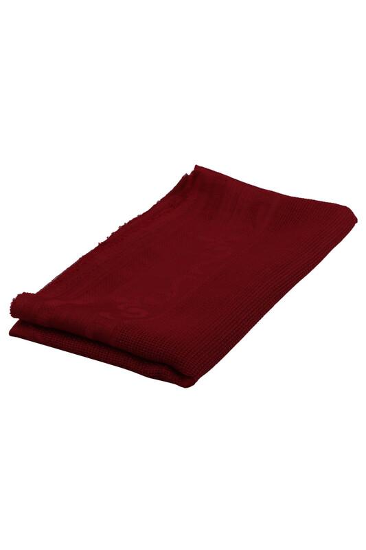SİMİSSO - Linen Kumaş İşlemelik Hazır Seccade | Kırmızı
