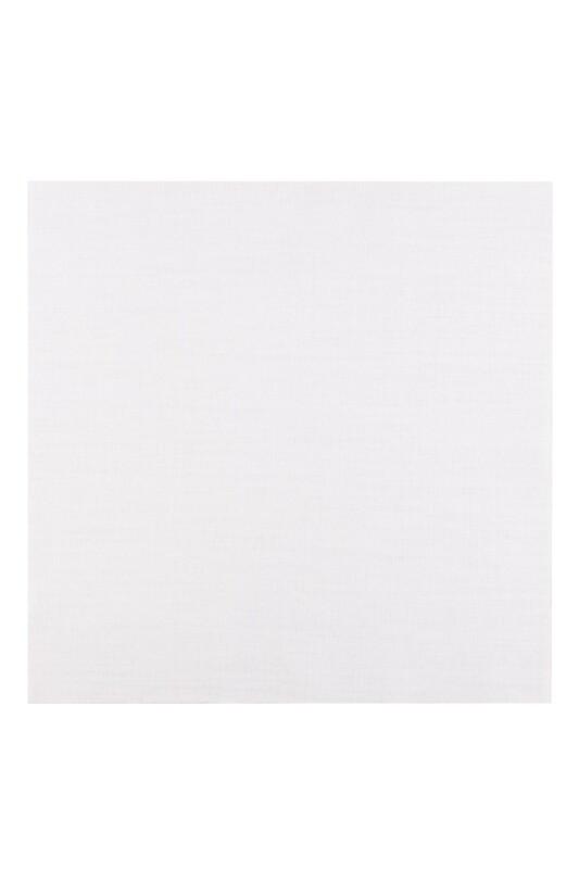 SİMİSSO - Etuval Linen İşlemelik Etamin Kumaşı 40x40 | Beyaz