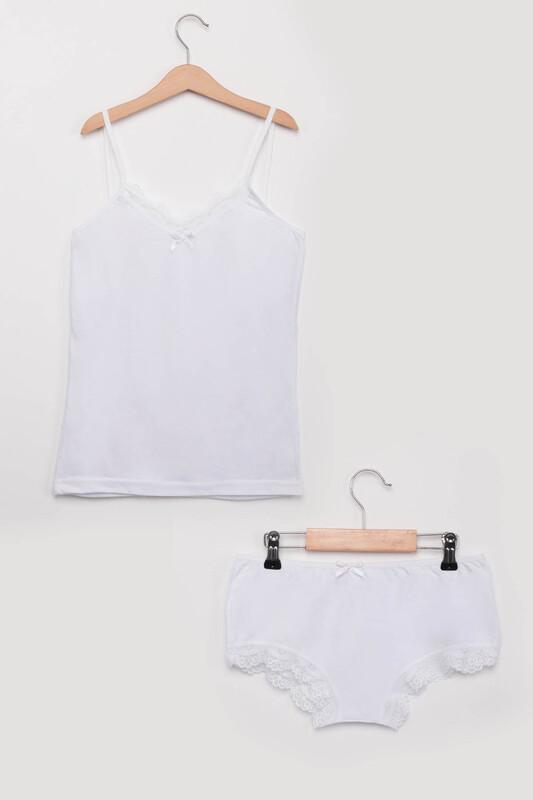SİMİSSO - Atlet Külot Takımı 1030   Beyaz