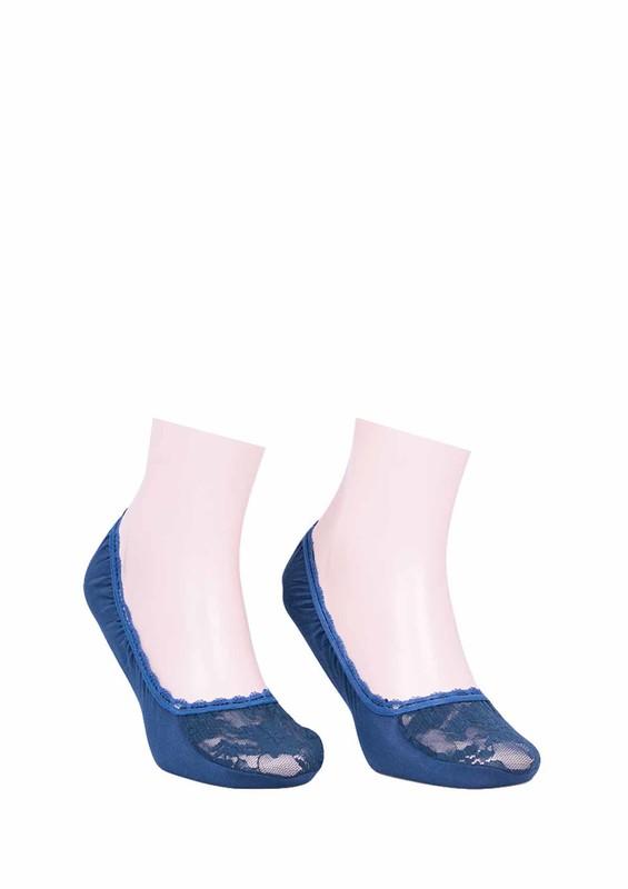 CALZE VİTA - Calze Vita Güpürlü Babet Çorap 341 | Mavi