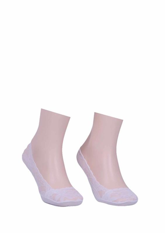 İLBAŞ - Dantelli Babet Çorap 326 | Beyaz