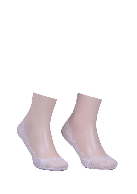 İLBAŞ - Dantel Kenarlı Babet Çorap 200 | Beyaz