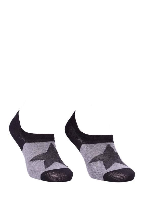 PAKTAŞ - Paktaş Yıldız Desenli Babet Çorap 337 | Siyah