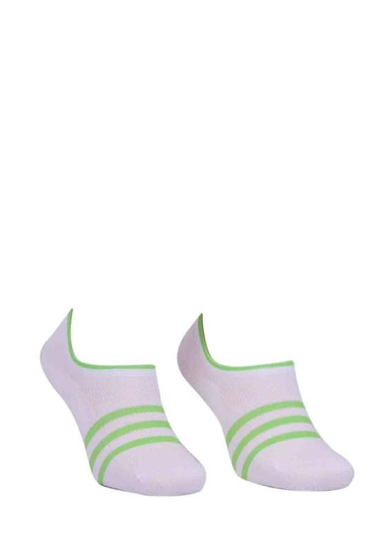 PAKTAŞ - Paktaş Desenli Babet Çorap 334 | Yeşil