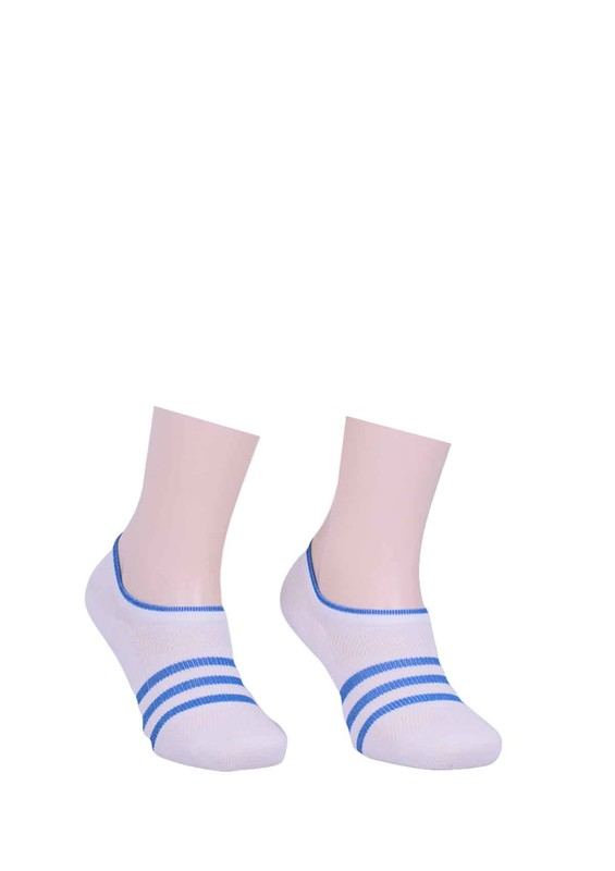 PAKTAŞ - Paktaş Desenli Babet Çorap 334 | Mavi
