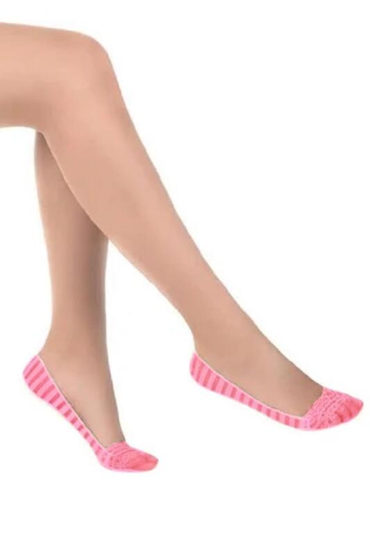 PENTİ - Penti Stripe Suba Babet Çorap | Pembe