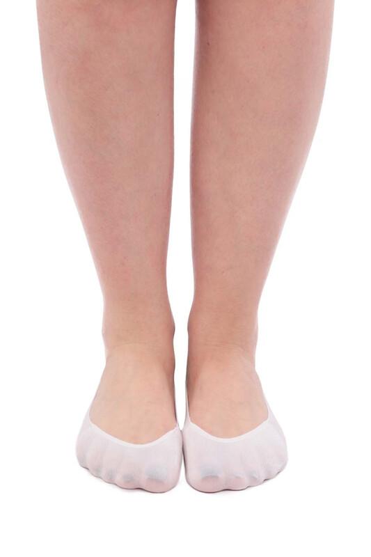 SİMİSSO - İtaliana Seamless Kadın Babet Çorap | Beyaz