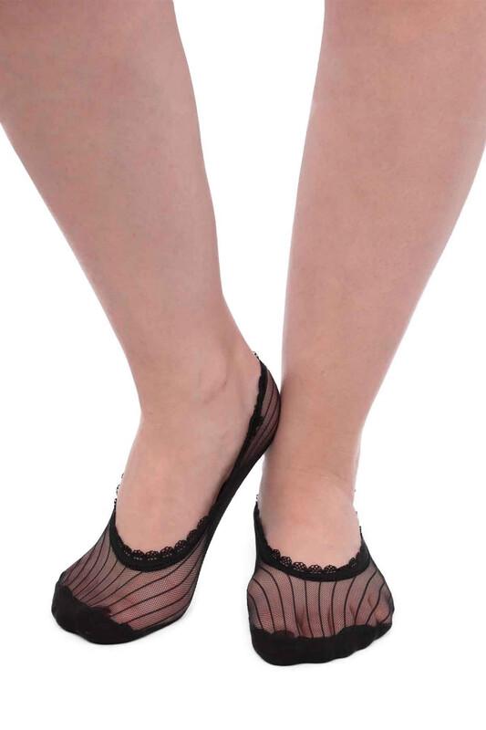 SİMİSSO - İtaliana Elegant Kadın Babet Çorap | Siyah