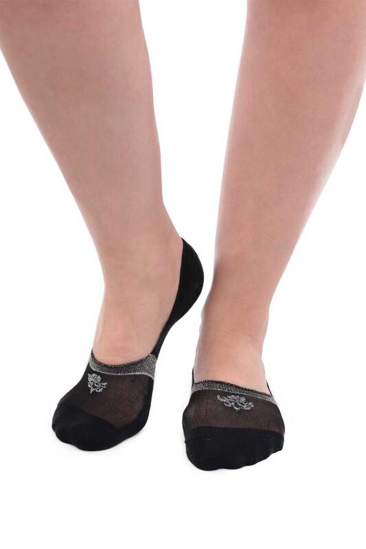 SİMİSSO - Bambu Simli Kadın Babet Çorap 20716 | Siyah