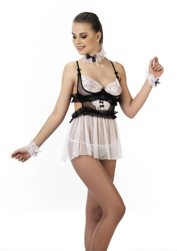 FOR DREAMS - For Dreams Fantezi Gece Kıyafeti 8524 | Beyaz