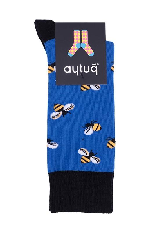 AYTUĞ - Aytuğ Arı Desenli Kadın Çorap 2432 | Saks