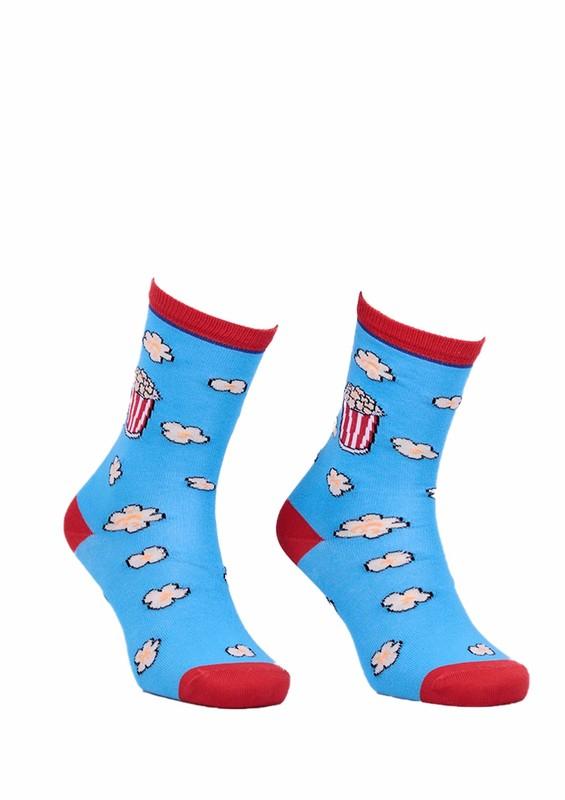AYTUĞ - Aytuğ Popcorn Desenli Kadın Çorap 2432 | Mavi