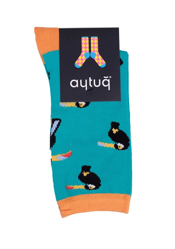 AYTUĞ - Aytuğ Desenli Kadın Çorap 2432 | Yeşil