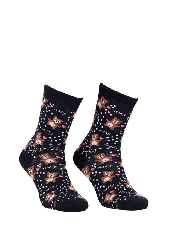 CALZE VİTA - Calze Vita Ayıcıklı Çorap 338 | Siyah