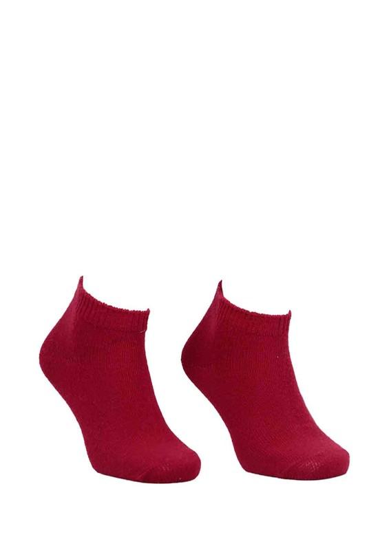 DİBA - Diba Dikişsiz Düz Yün Çorap 216 | Kırmızı