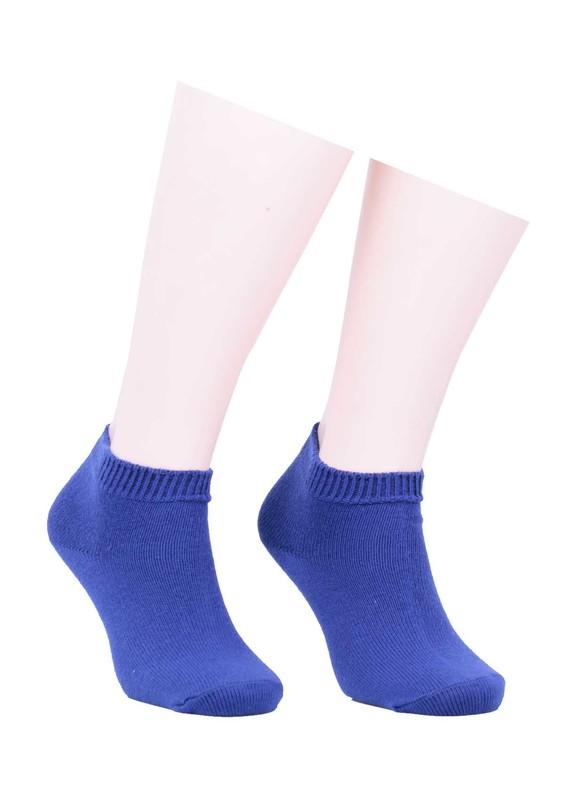 DİBA - Diba Dikişsiz Düz Yün Çorap 216 | Saks