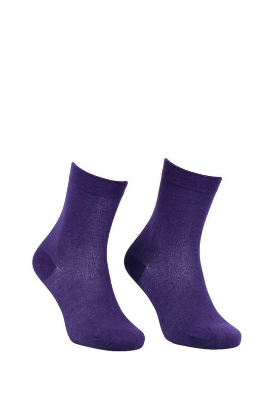 DÜNDAR - Dündar Büzgülü Çorap 2050 | Bordo