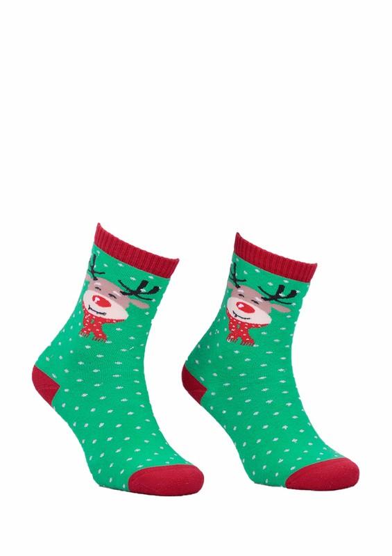 DÜNDAR - Dündar Dikişsiz Geyikli Parfümlü Çorap 010   Yeşil