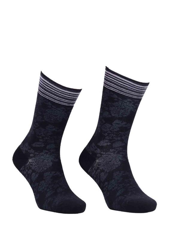 LA MORİA - La Moria Desenli Parfümlü Bambu Çorap 63612   Siyah