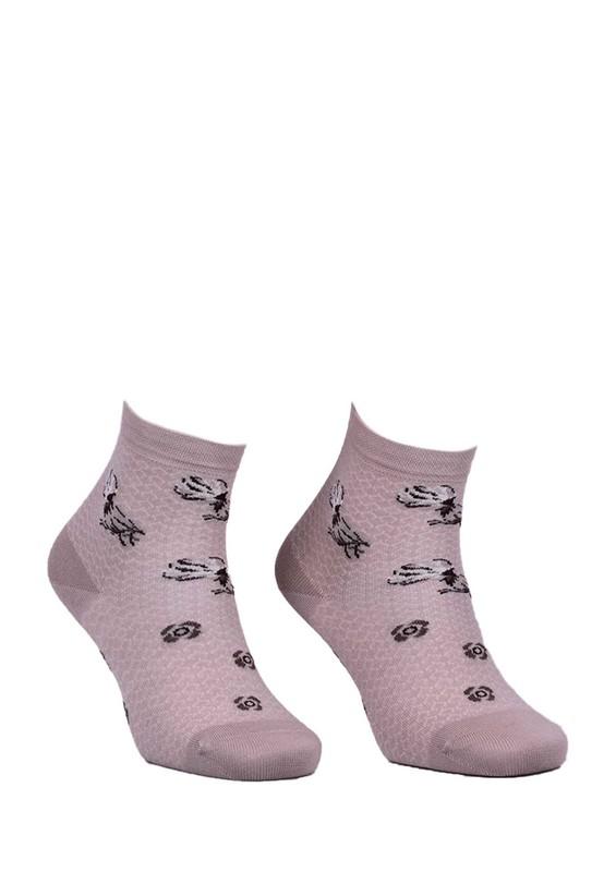 LA MORİA - La Moria Desenli Dikişsiz Çorap 82422-3   Vizon