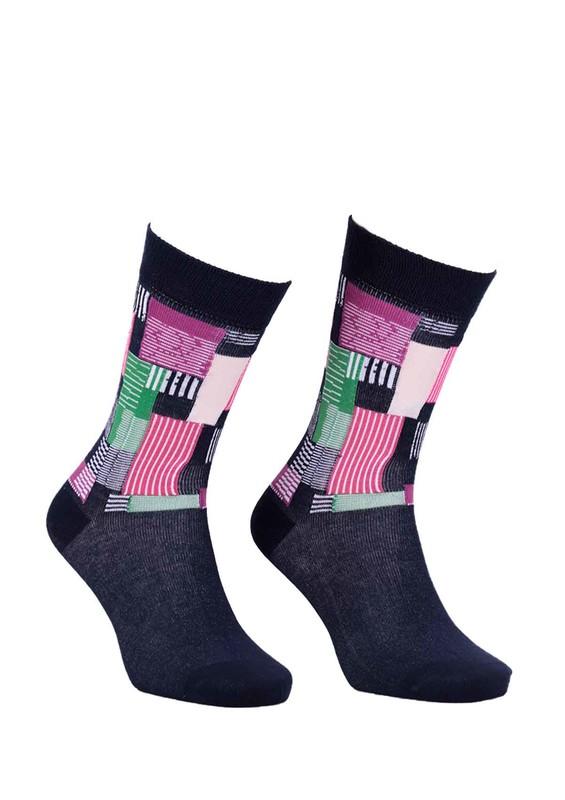 PAKTAŞ - Paktaş Desenli Çorap 2588 | Lacivert