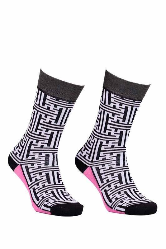PAKTAŞ - Paktaş Labirentli Çorap 2586   Siyah