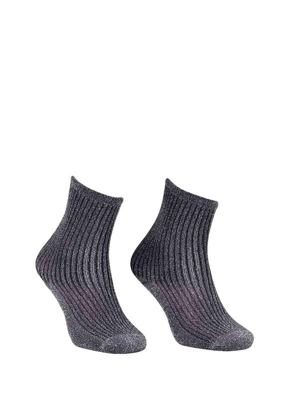PAMELA - Sim Desenli Çorap 617 | Siyah