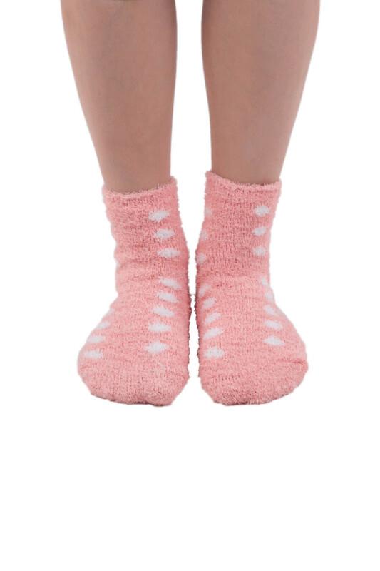 SAHAB - Sahab Kadın Peluşlu Patik Çorap 48500 | Pudra