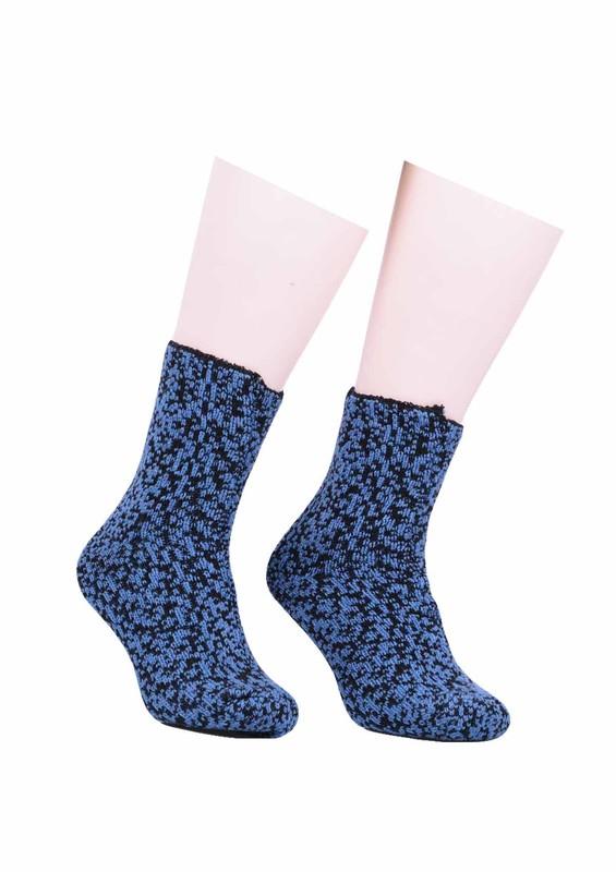 SARA DONNA - Desenli Yün Çorap 527 | Mavi