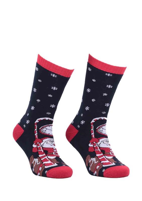 SİMİSSO - Havlu Yılbaşı Çorabı 3'lü Kutulu   Model 1