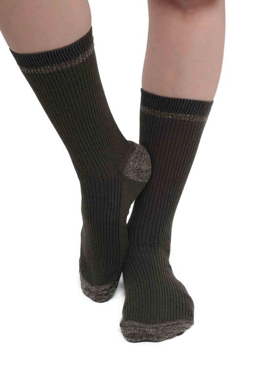 SİMİSSO - Simli Kadın Soket Çorap | Yeşil